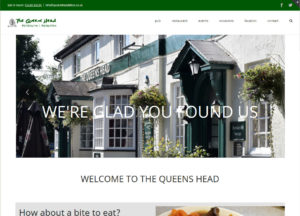 The Queens Head website - traditional Hampshire pub