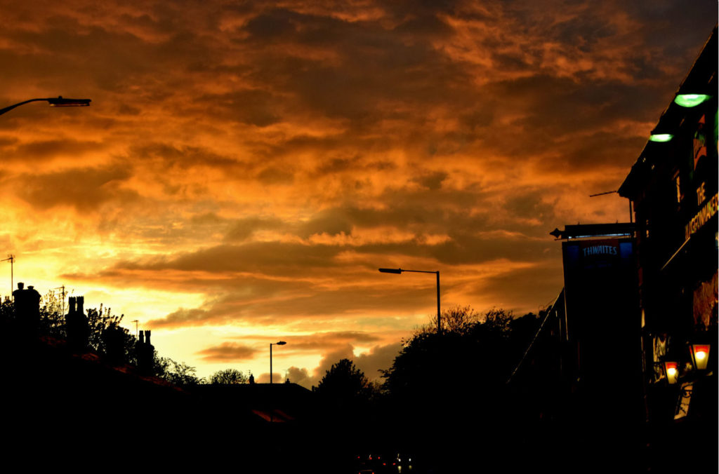 The Waggonmakers at sunset - Bury Lancashire