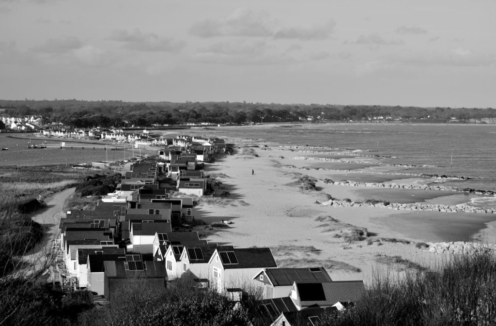 Lone beach walker - Mudeford Quays