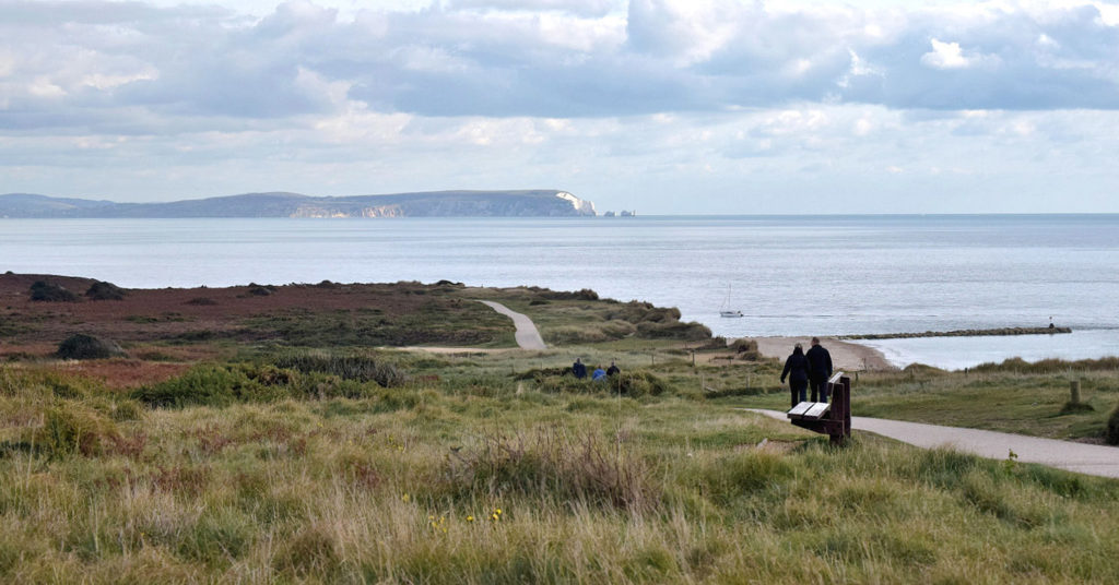 Walking across Hengistbury Head