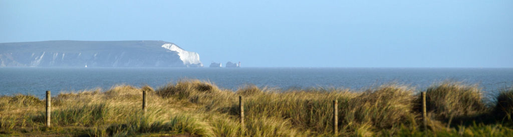 The Isle of Wight and needles from Hengistbury Head