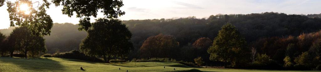 November sunset in Hampshire
