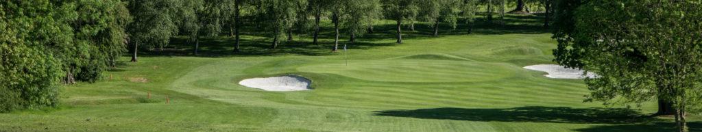 The second hole, par three, redditch golf club